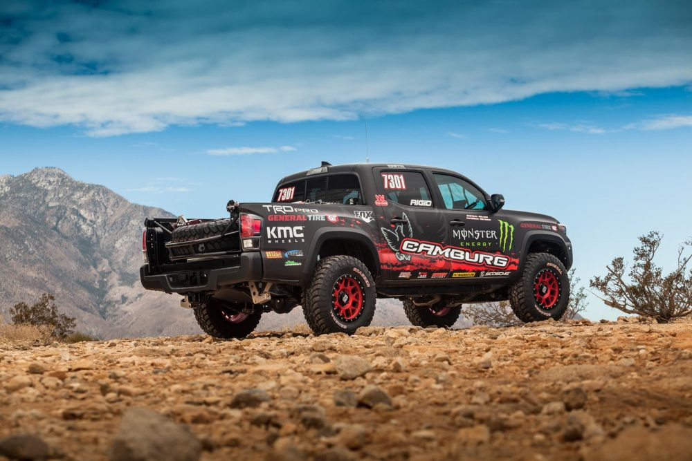 The Tacoma Trd Pro Race Truck S Rugged Stock 3 5 Liter Atkinson Cycle Engine Boasts A 4wd Drivetrain With Multi Terrain Select And Crawl Control
