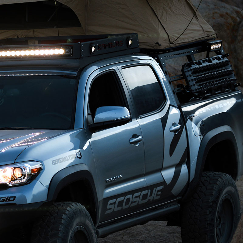 Camburg Toyota Tacoma Pre 4wd 05 18 Cte Rear Bed Rack