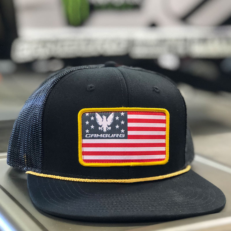 "Camburg ""Patriot"" Trucker Mesh Hat (black)"